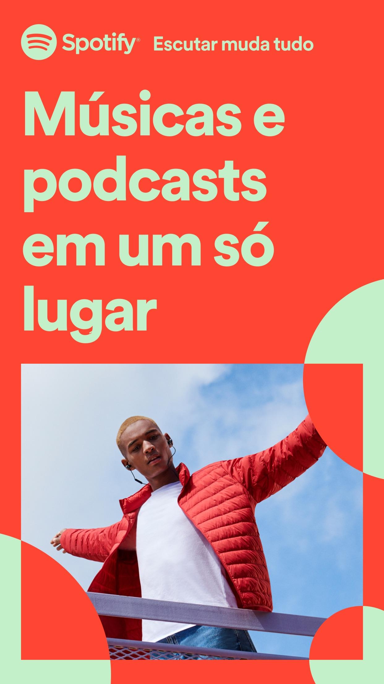 Screenshot do app Spotify - Música e podcasts