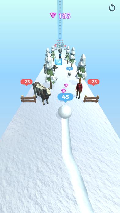 Snowball Effect 3D screenshot 1