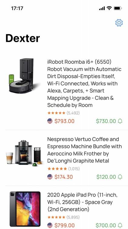 Dexter Price Alert for Amazon