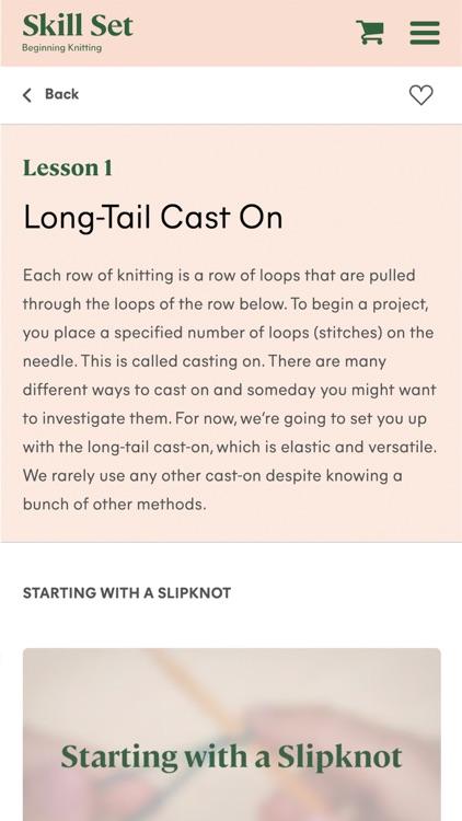 Skill Set: Beginning Knitting screenshot-3