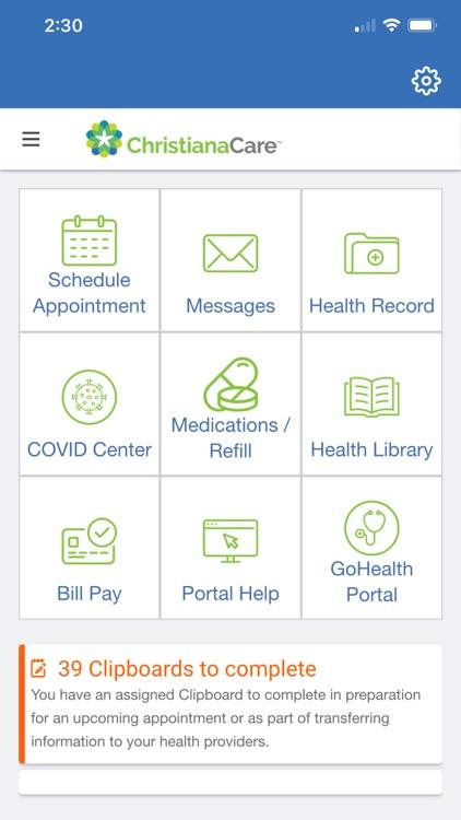 Christiana Care Patient Portal