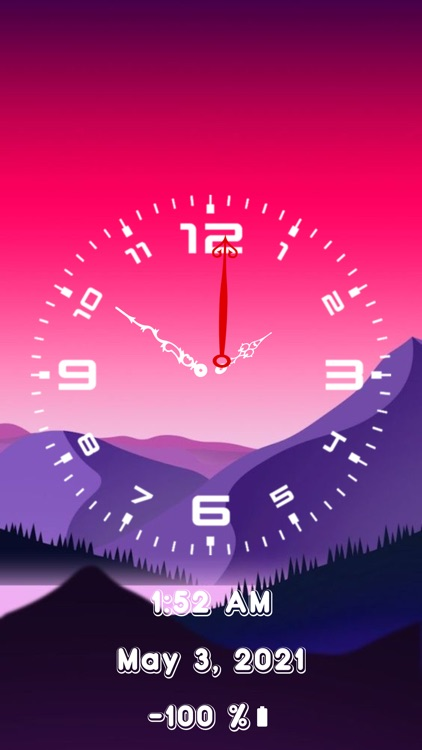 Analog Clock-OLEDX Large Clock screenshot-4