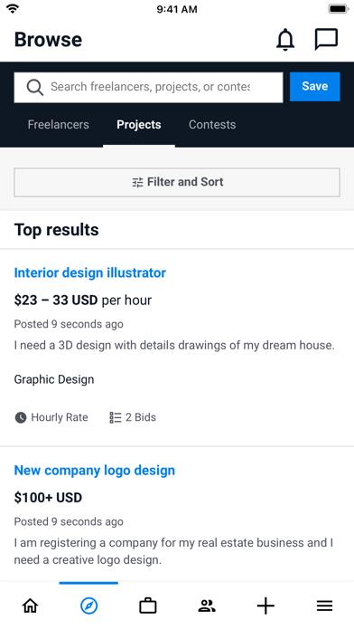 Screenshot #1 pour Freelancer - Hire & Find Jobs