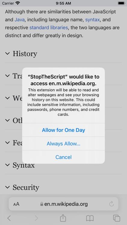 StopTheScript screenshot-3