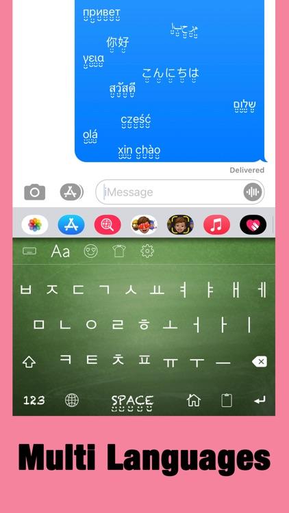 Color Fonts Keyboard