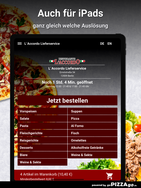 L`Accordo Lieferservice Berlin screenshot 7