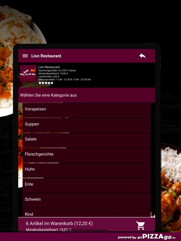 Lion Restaurant Höxter screenshot 8