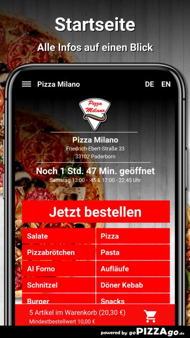 Pizza Milano Paderborn screenshot 2