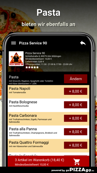 Pizza Service 90 Ulm Wiblingen screenshot 6