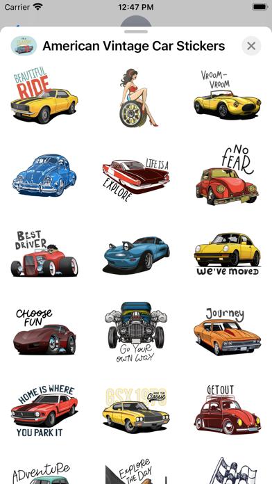 American Vintage Car Stickers screenshot 3