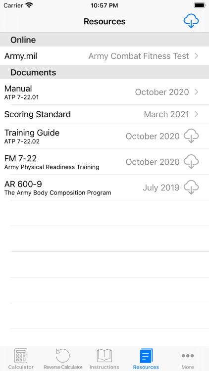 ACFT Calculator and Resources screenshot-3