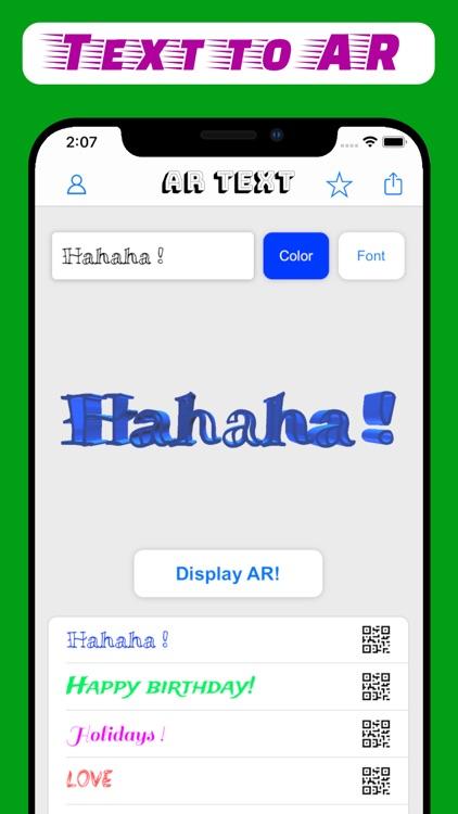 AR Text - 3D text to AR