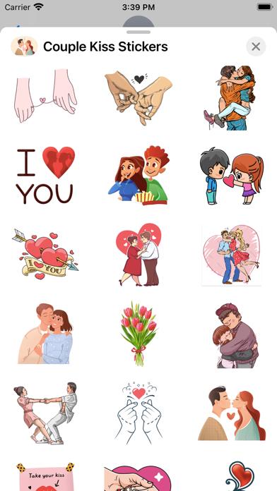 Couple Kiss Stickers screenshot 3