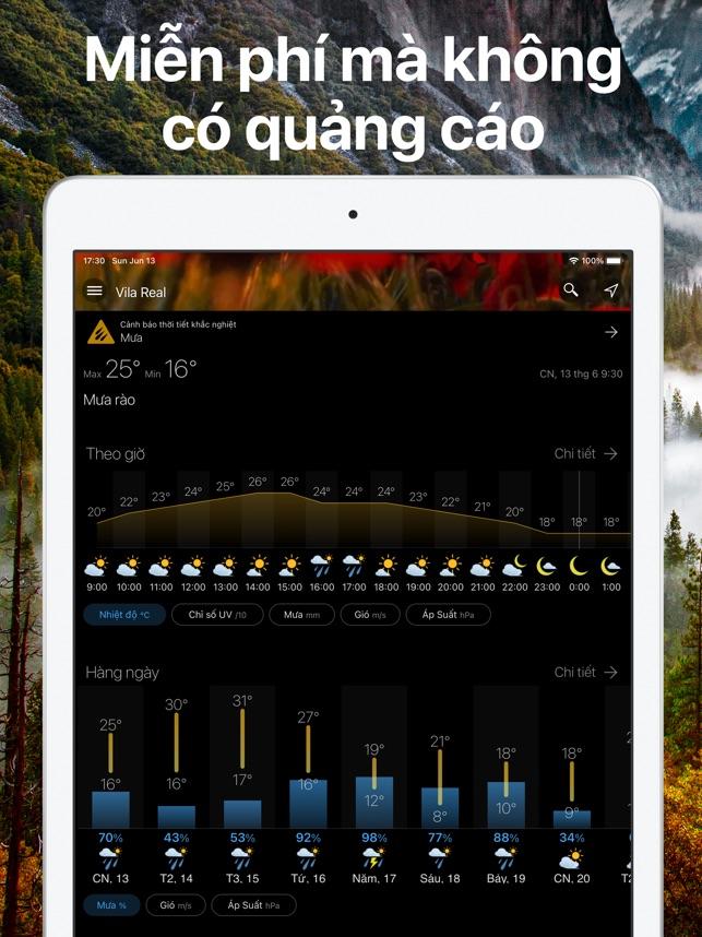 Thời tiết và Widget - Weawow