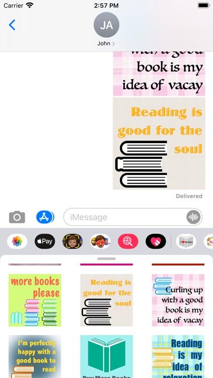 I love books stickers screenshot-6