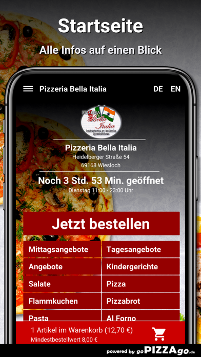 Pizzeria Bella Italia Wiesloch screenshot 2