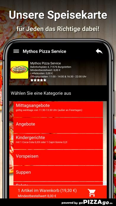 Mythos Pizza Burgstetten screenshot 4