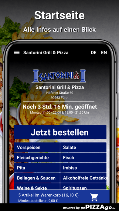 Santorini Grill & Pizza Fürth screenshot 2