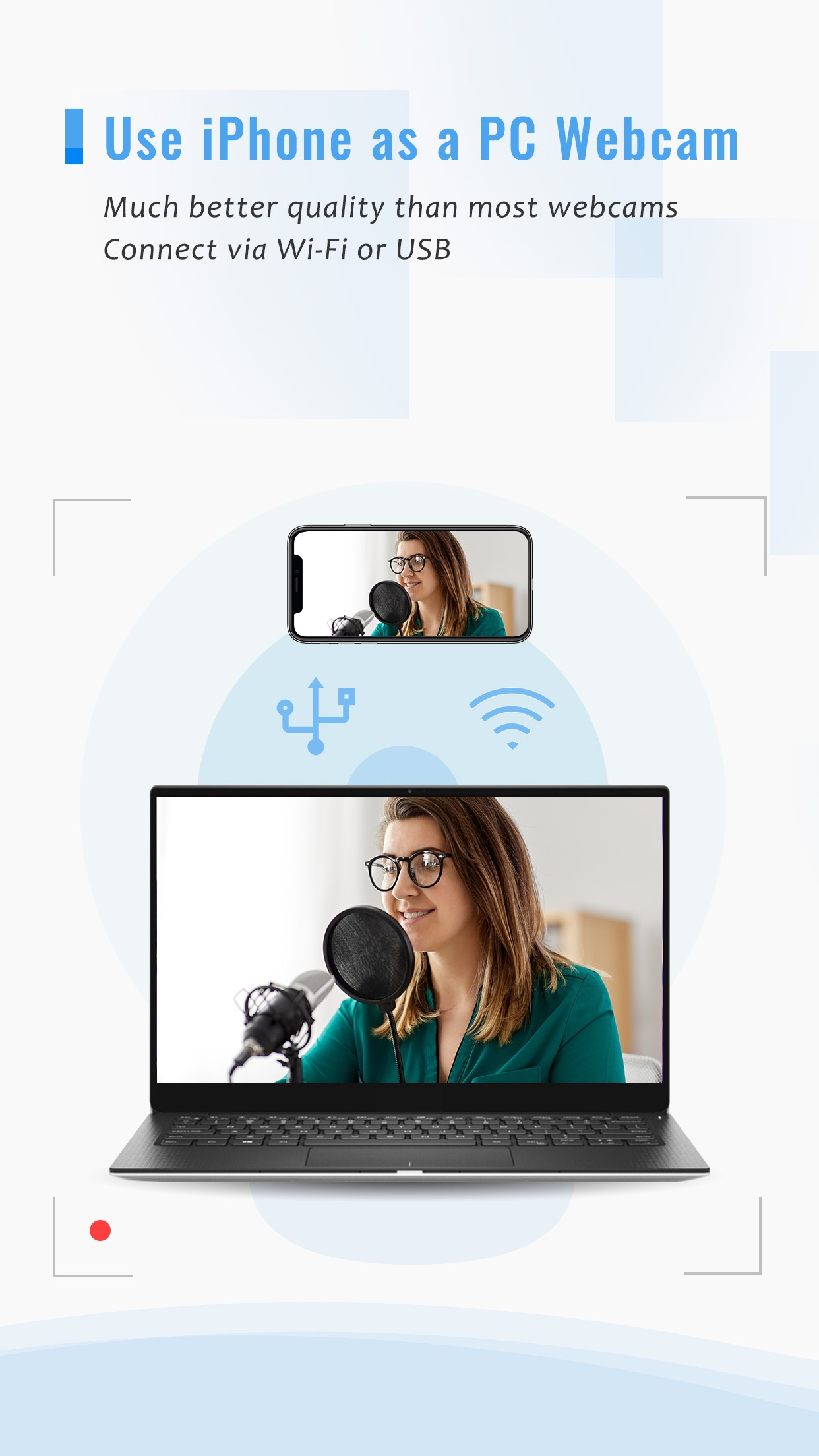 Screenshot do app iVCam Webcam