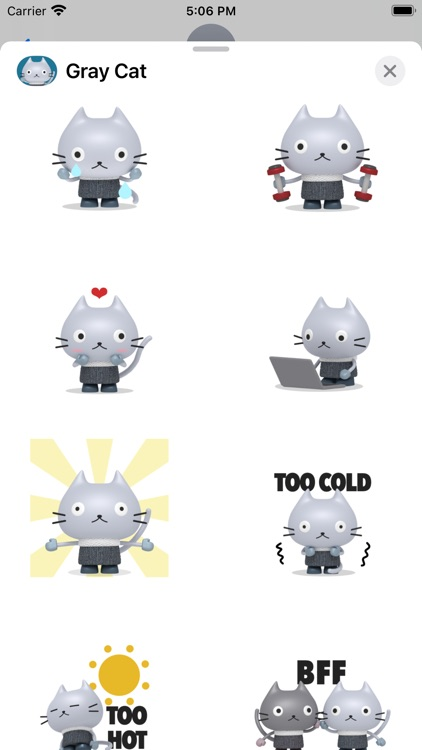 Gray Cat - Animated Stickers