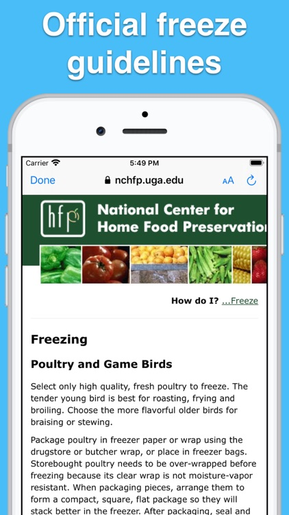 Food Tips - Storage & Cooking! screenshot-3