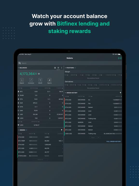 Bitfinex: Trade Digital Assetsのおすすめ画像4