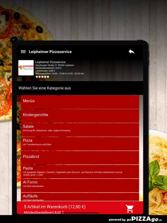 Leipheimer Pizzaservice Leiphe screenshot 8