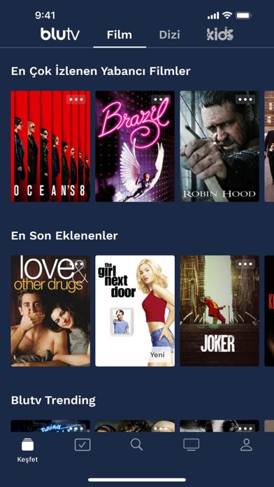 BluTV iphone ekran görüntüleri