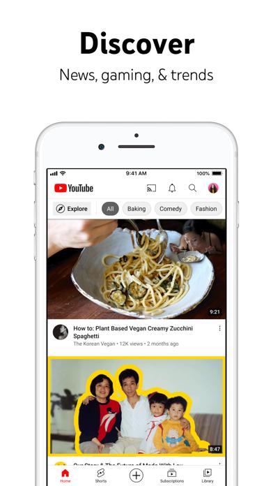 YouTube: Watch, Listen, Stream Screenshot on iOS