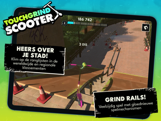 Touchgrind Scooter iPad app afbeelding 1