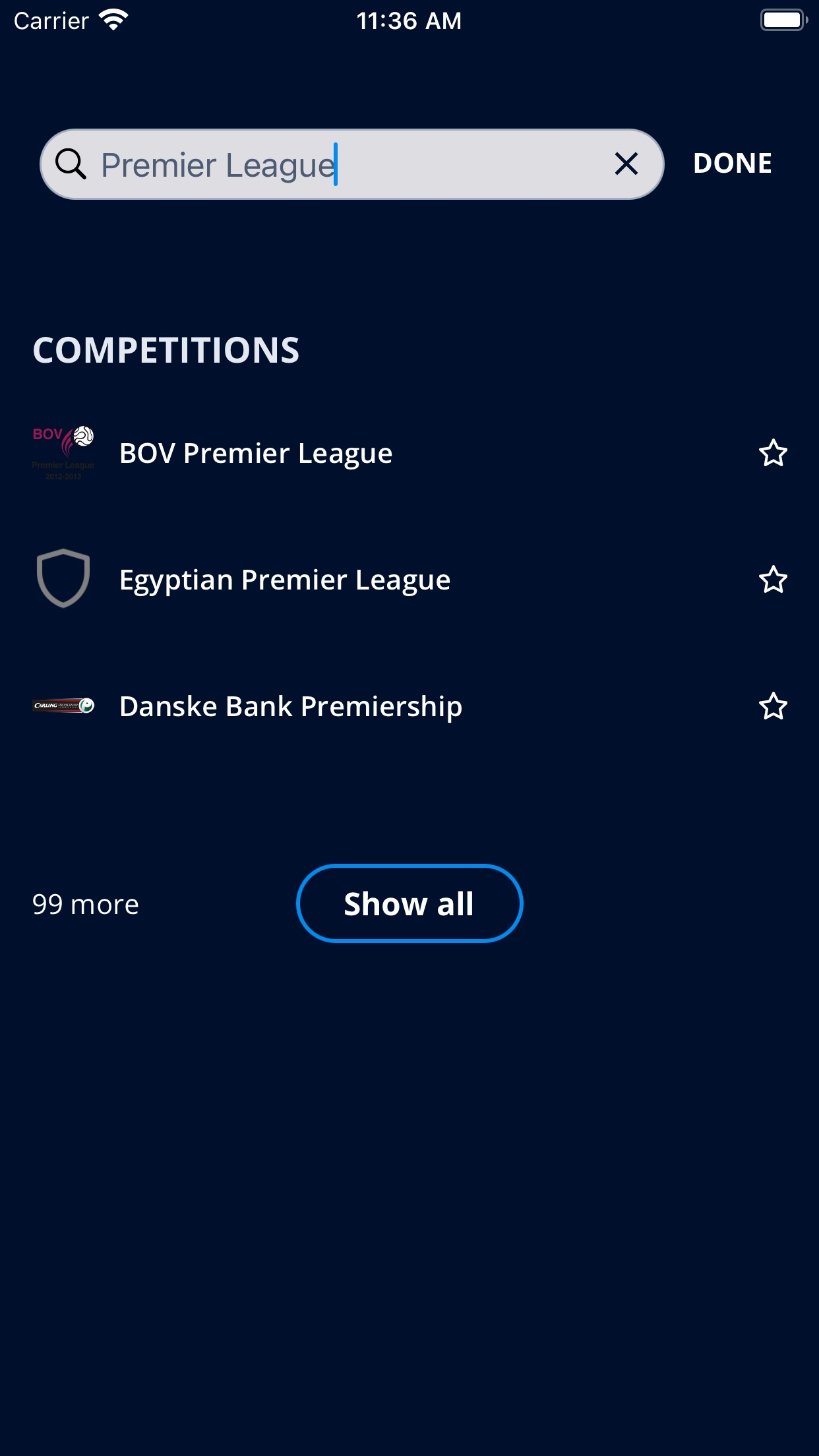 Screenshot do app FIFA - Soccer News & Scores