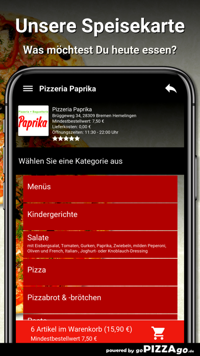 Pizzeria Paprika Bremen Hemeli screenshot 4