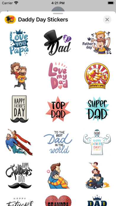 Daddy Day Stickers screenshot 3