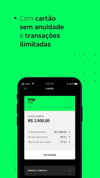 Banco next: Conta e Cartão