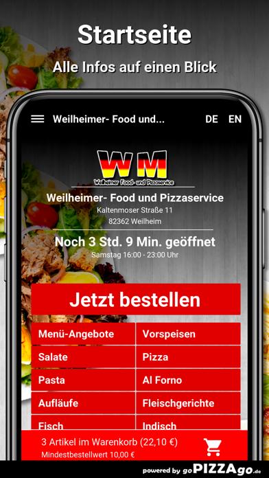 Weilheimer Pizza Weilheim screenshot 2