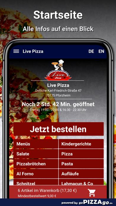 Live Pizza Pforzheim screenshot 2