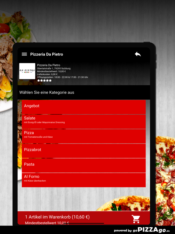 Pizzeria Da Pietro Sulzburg screenshot 8