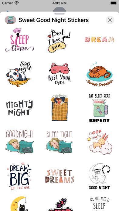 Sweet Good Night Stickers screenshot 3