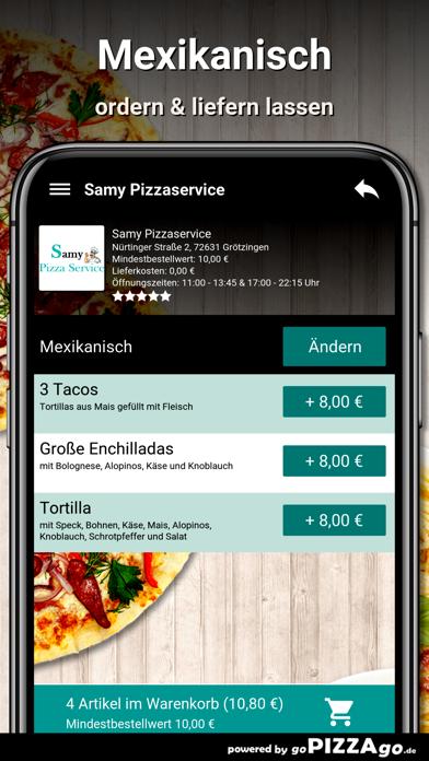 Samy Pizzaservice Grötzingen screenshot 6