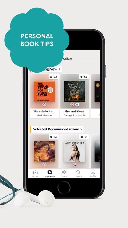 BookBeat Audiobooks & E-books screenshot-3