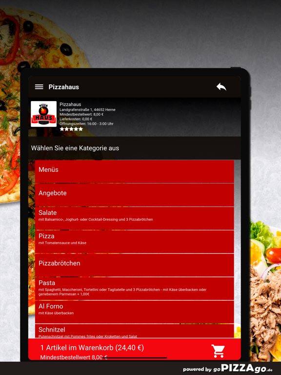 Pizzahaus Herne screenshot 8