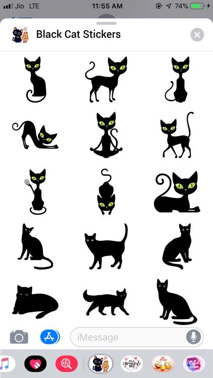 Black Cat Sticker!