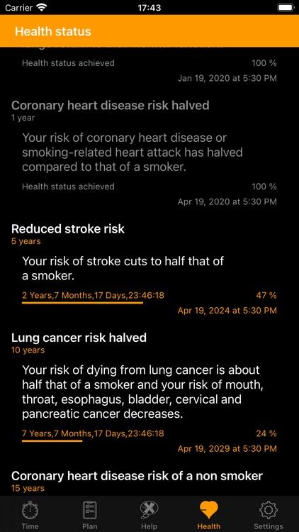 My last Cigarette Timer screenshot-3