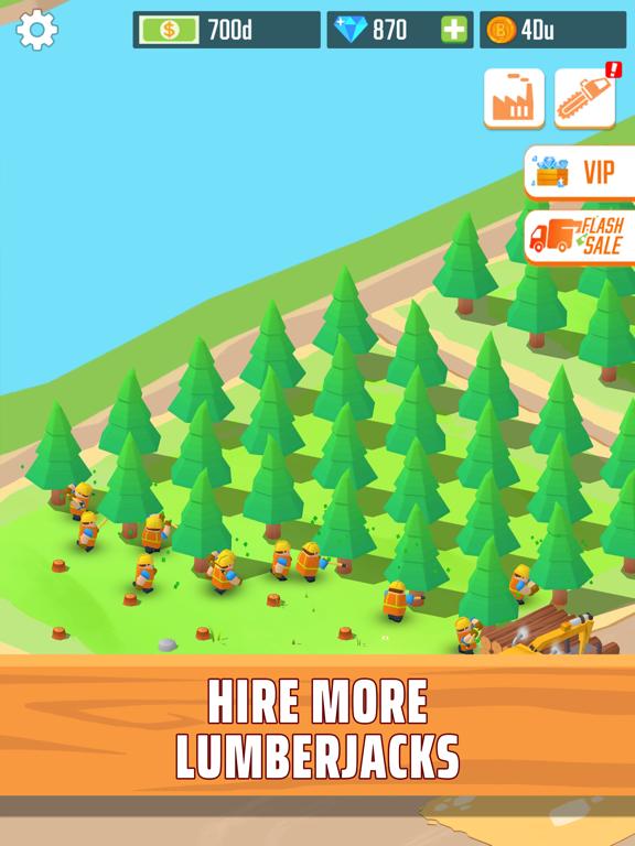 Lumber empire: idle tycoon iPad app afbeelding 4