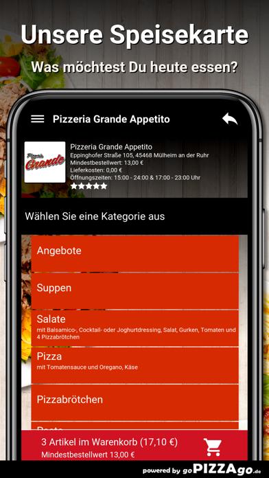 Pizzeria Grande Appetito Mülhe screenshot 4