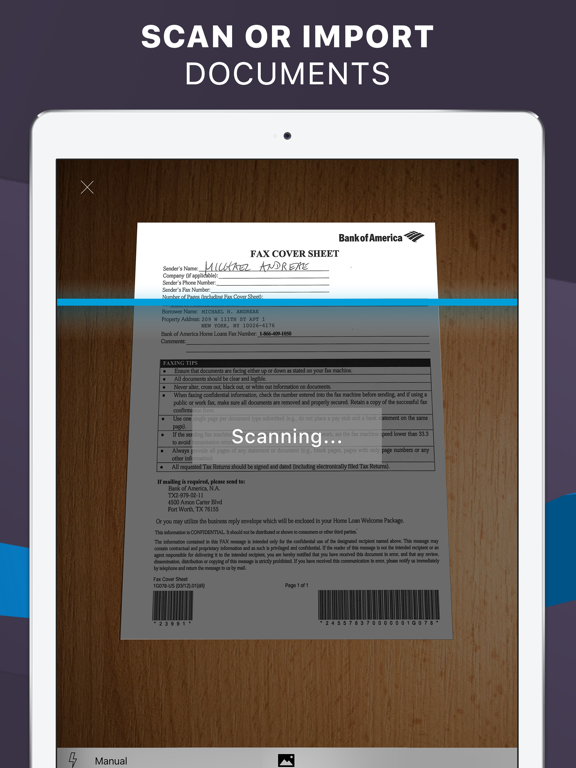 iFax: Fax from iPhone ad free screenshot