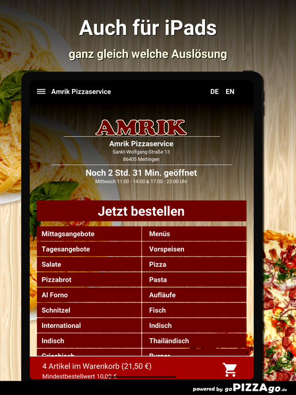 Amrik Pizzaservice Meitingen screenshot 7