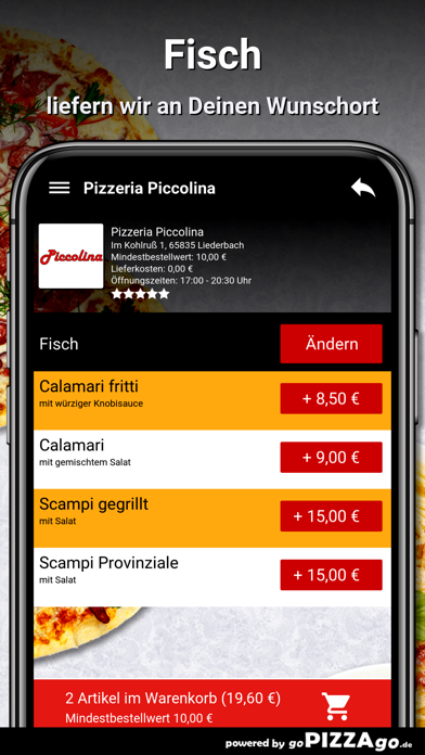 Pizzeria Piccolina Liederbach screenshot 6