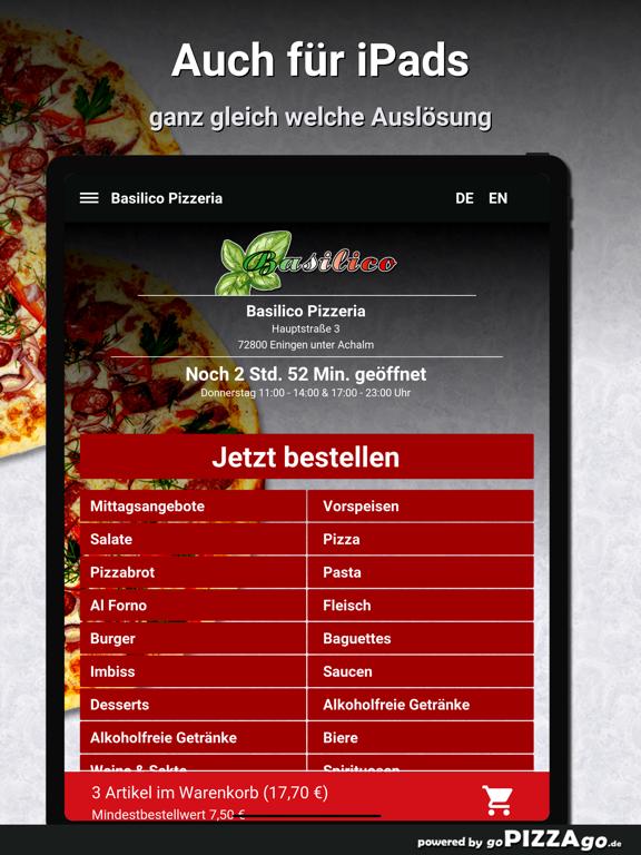 Basilico Pizzeria Eningen unte screenshot 7