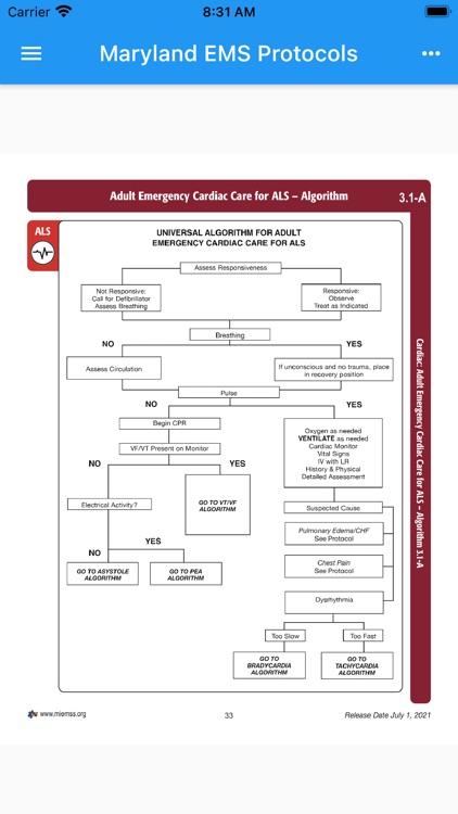 Maryland EMS Protocols 2021 screenshot-3